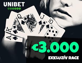 Unibet - €3,000 - exkluzív cash race - 2021. január 1-31.
