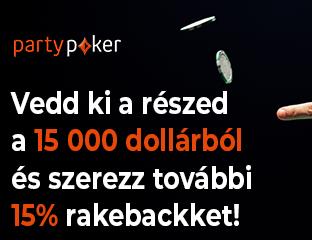 partypoker - $15,000 - exkluzív cash race - 2021. április 1-30.