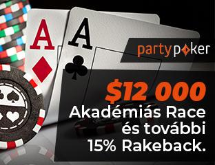 partypoker - $12,000 - exkluzív cash race - 2021. szeptember 1-30.