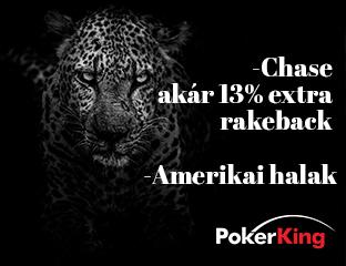 PokerKing - Winning Poker Network - exkluzív rake chase - 2021. szeptember 1-30.
