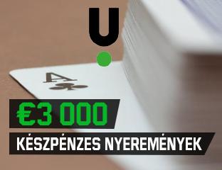 Unibet - €3,000 - exkluzív cash race - 2021. október 1-31.