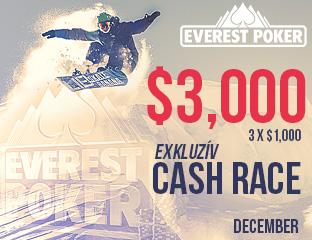 Everest Poker - iPoker - $1,000 - exkluzív cash race - 2016. december 1-11.