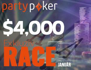 PartyPoker - Party-bwin - $4,000 - exkluzív cash race - 2017. január 1-31.
