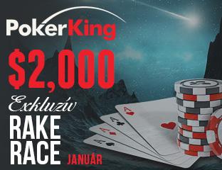 PokerKing - Winning Poker Network - $2,000 - exkluzív cash race - 2017. január 1-31.