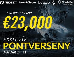 Betsson Poker - Microgaming - pooled point chase - 2017. január 1-31.