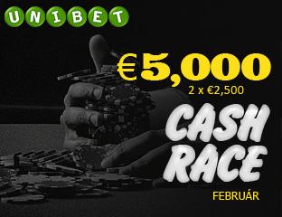 Unibet - €2,500 - exkluzív cash race - 2017. február 14-28.