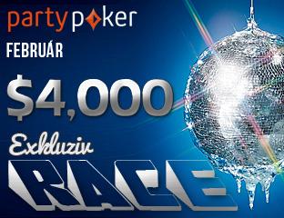 PartyPoker - Party-bwin - $4,000 - exkluzív cash race - 2017. február 1-28.