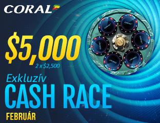Coral Poker - iPoker - $2,500 - exkluzív cash race - 2017. február 15-28.