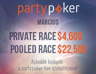 PartyPoker - Party-bwin - $4,592 - exkluzív cash race - 2017. március 1-31.