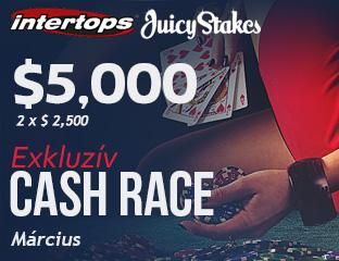 Intertops Poker - $2,500 - exkluzív rake race - 2017. március 16-31.