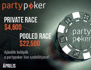 PartyPoker - Party-bwin - $4,601 - exkluzív cash race - 2017. április 1-30.