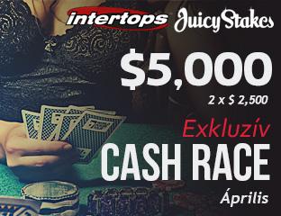 Intertops Poker - $2,500 - exkluzív rake race - 2017. április 16-30.