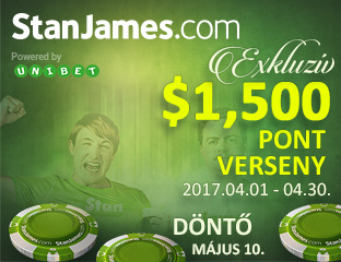 Stan James Poker - Microgaming - exkluzív point chase - 2017. április 1-30.