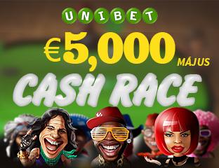 Unibet - €2,500 - exkluzív cash race - 2017. május 15-31.