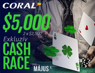 Coral Poker - iPoker - $2,500 - exkluzív cash race - 2017. május 16-31.