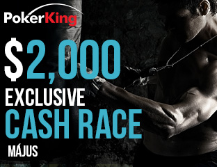 PokerKing - Winning Poker Network - $2,000 - exkluzív cash race - 2017. május 1-31.