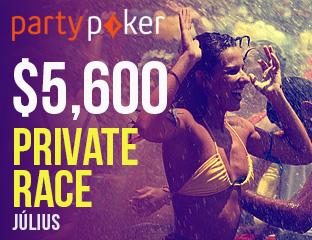 PartyPoker - Party-bwin - $5,601 - exkluzív cash race - 2017. július 1-31.