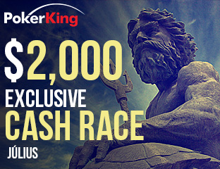 PokerKing - Winning Poker Network - $2,000 - exkluzív cash race - 2017. július 1-31.