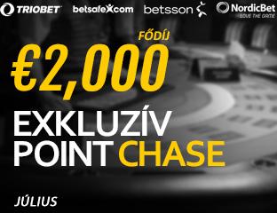 Betsson Poker - Microgaming - exkluzív point chase - 2017. július 1-31.