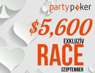 PartyPoker - Party-bwin - $5,601 - exkluzív cash race - 2017. szeptember 1-30.