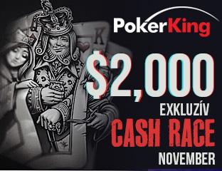 PokerKing - Winning Poker Network - $2,000 - exkluzív cash race - 2017. november 1-30.