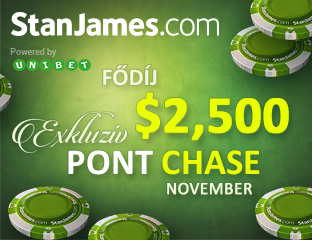 Stan James Poker - Microgaming - exkluzív point chase - 2017. november 1-30.