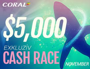 Coral Poker - iPoker - $2,500 - exkluzív cash race - 2017. november 16-30.
